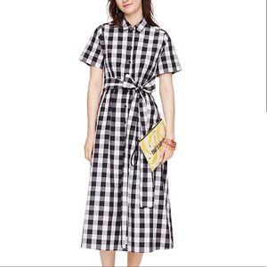 Kate Spade Brooke Street Gingham Shirtdress, sz M